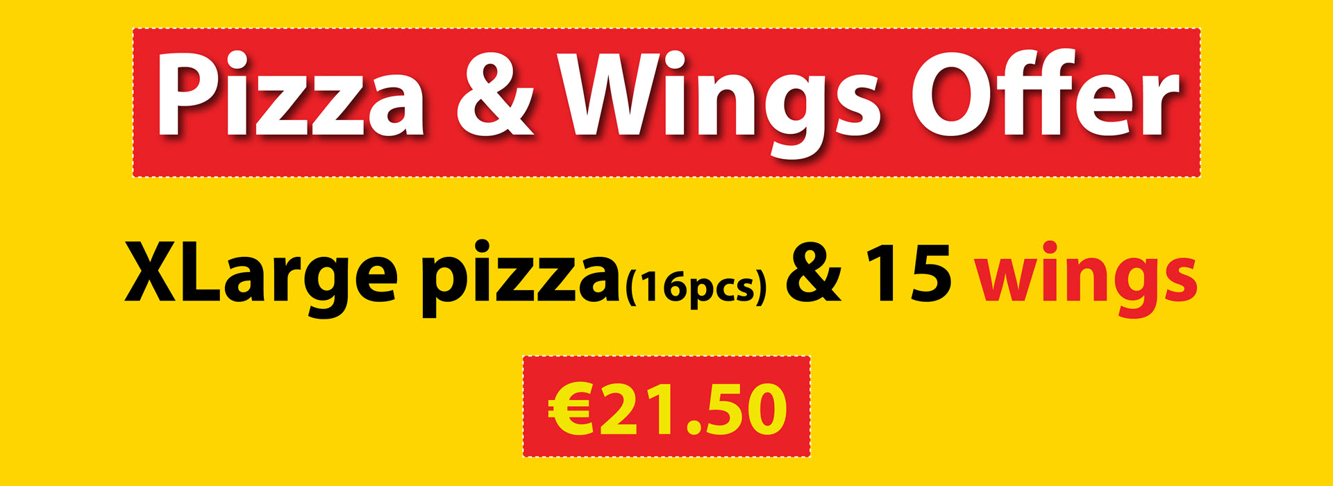 Pizza & Wings Offer